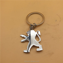 Lion shape metal keychain souvenirs as gifts