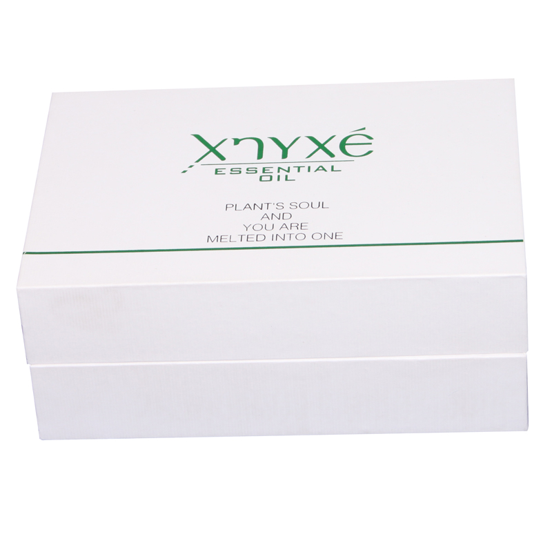 Custom Tray Essential Oil Cosmetics Packaging Cardboard White Gift Box