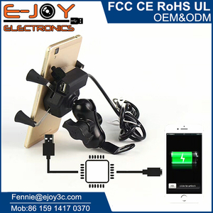 Hot 9v to 24v waterproof cell phone holder charger for motorcycle ATV