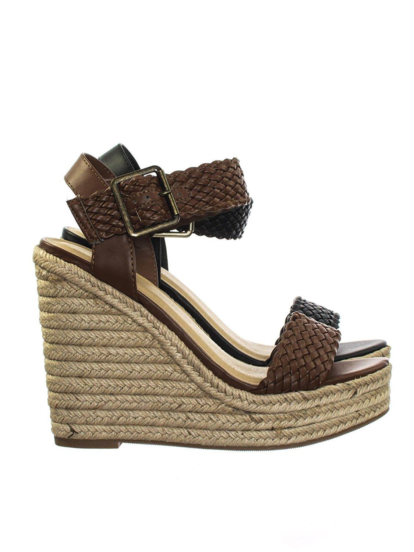 6ba9b231640e2 Get Quotations · Aquapillar Espadrille Jute Wrapped Platform High Wedge  Heel Sandal w Braided Strap