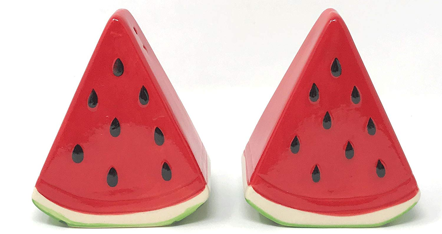 Northeast Home Goods Watermelon Slices Ceramic Salt & Pepper Shakers