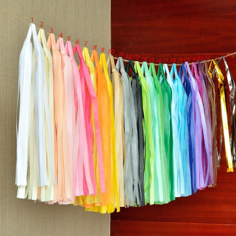 14 Inch Tissuepapier Tassel Garland Diy Bruiloft Decoratie Papieren Bloem Decoraties Verjaardagen Party Decoraties Event Gift Pack