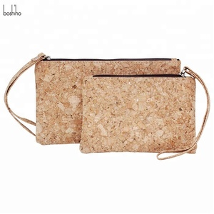 8e86f6dd55 Boshiho Eco Friendly Small Carry Cork Bag Cluth Card Holder Women  Minimalist Wallet Purse