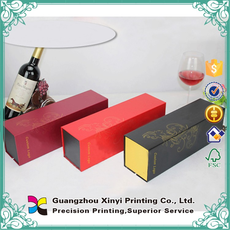 Alibaba top level wine packaging boxes custom printing