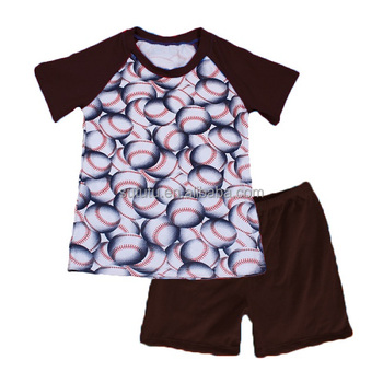 Sue Lucky 2018 boy 2ps Boys Clothes Outfit, Kids Outfits Brown Baby Tops T-shirt, Boy Cropped Pants
