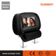 1080p Video HD digital screen Monitor car headrest DVD player with leather cover SD +IR headphone