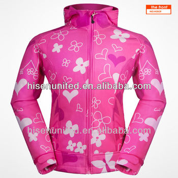 New Design Womens Allover Printing Softshell Jacket