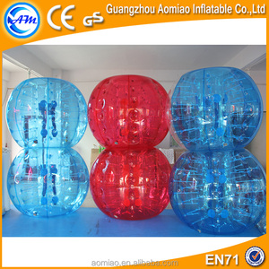 half color inflatable human bubble soccer bubble for sale