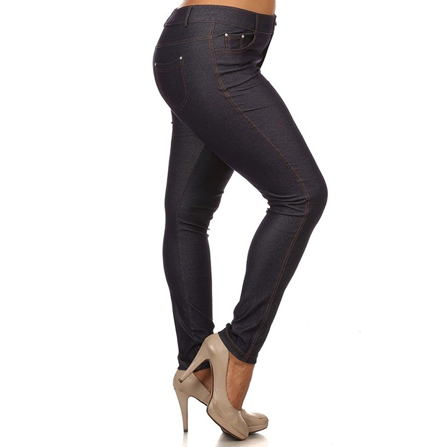 9f4a6a1b8cc Get Quotations · Basic 5 Pocket Colored Jeggings - Plus Size