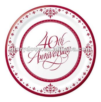 Ruby Wedding Paper Dessert Plates--40th Anniversary  sc 1 st  Alibaba & Ruby Wedding Paper Dessert Plates--40th Anniversary - Buy Wedding ...