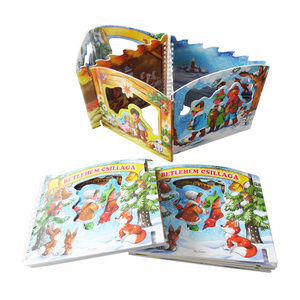 Factory Low Cost Customized Book Printing for Kindergarten Kids Learning Christmas Activity Scripts with Lovely Santa Character