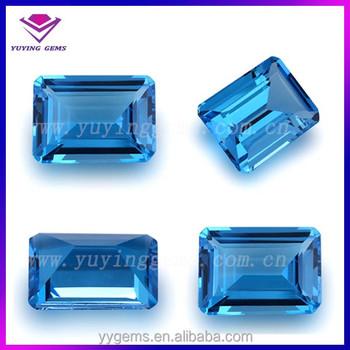 Octagon Emerald Cut Natural London Blue Topaz- Gemstones - Buy Octangle  Cz,London Blue Topaz Cz,Emerald Cut Topaz Product on Alibaba com