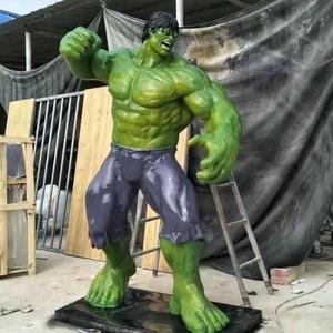 Full Life Size Movie Action Fiberglass Hulk Statue