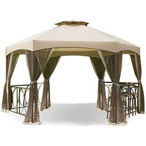 Garden Winds Replacement Canopy for the Dutch Harbor Gazebo - RipLock 350 by Garden Winds