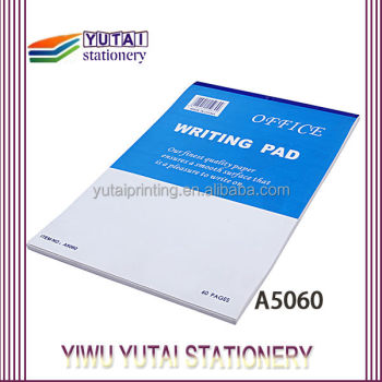 Office Supplies Customized Writing Pad,Plain Notebook