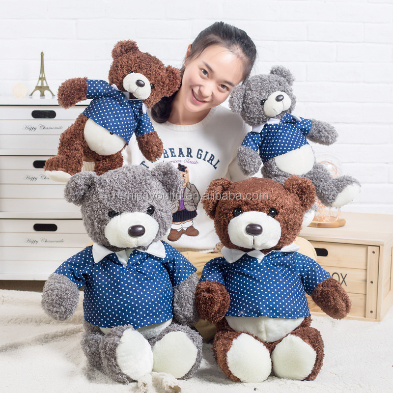 Lovely baby teddy bear toy with t shirt custom <strong>plush</strong> toy teddy bear