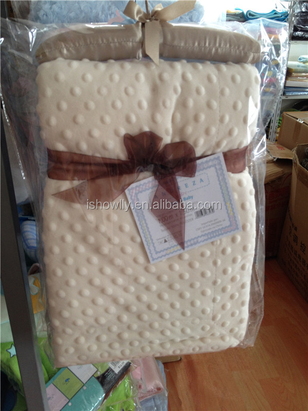Flame retardant short floss super soft touch Baby Blanket throw