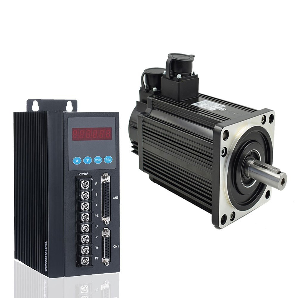 1500W 220v 3-phase AC Servo motor 10Nm high speed 1500 6A + Stable AC Servo motor Driver 220V 30A 1kw to 2.3kw