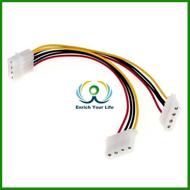 hot selling and best price standard 4pin splitter cable Powered by a 4 pin Molex outlet