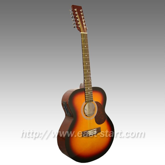 Dreadnought Type Electric Acoustic Guitar 12 String Guitar