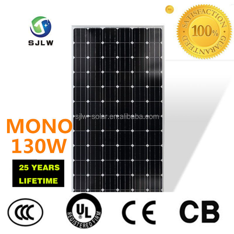 New design solar panel for home and farm 130W mono panel with competitive price