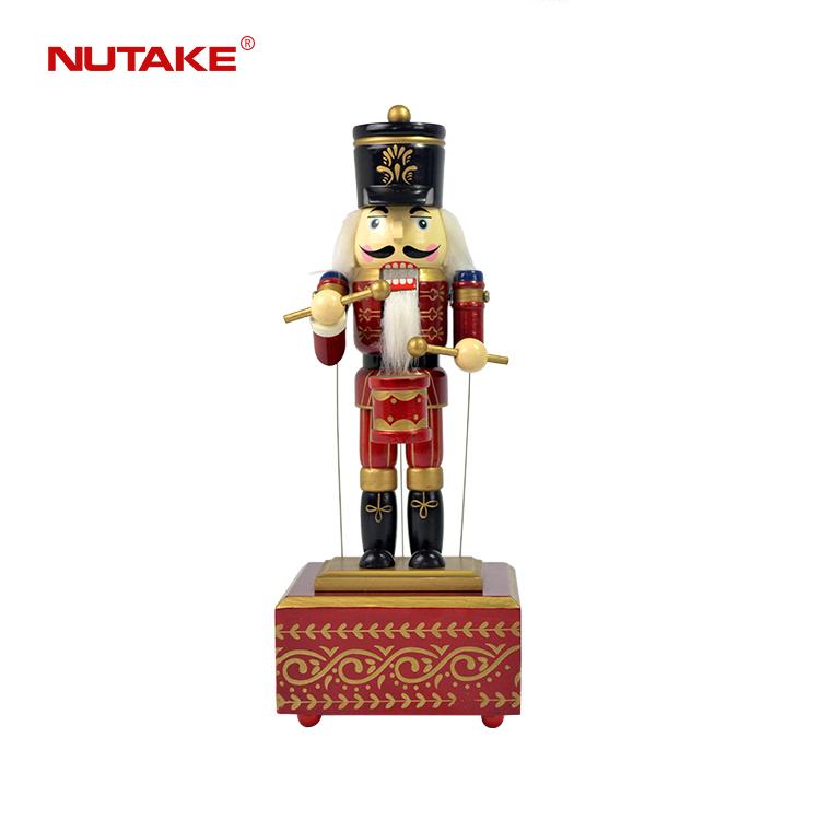 Оптовая продажа Рождественские украшения подарки деревянный размер жизни Щелкунчик