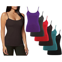 Fashional comfortable wholesale Seamless Modal Spandex Fabric Camisole Vest Latest Fancy Tops
