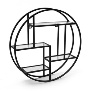 Round wall shelf display racks