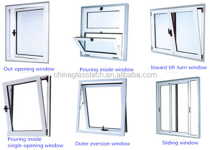 Bathroom Windows Standard Size ce approved 60/65/70/80 series heat resistant tempered insulating