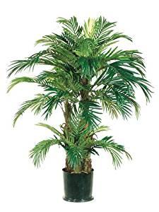 4' Triple-Trunk Phoenix Silk Palm Tree w/Pot (case of 2)