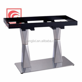 Stainless steel Hot pot table leg, cutting table frame, brushed stainless  steel table feet