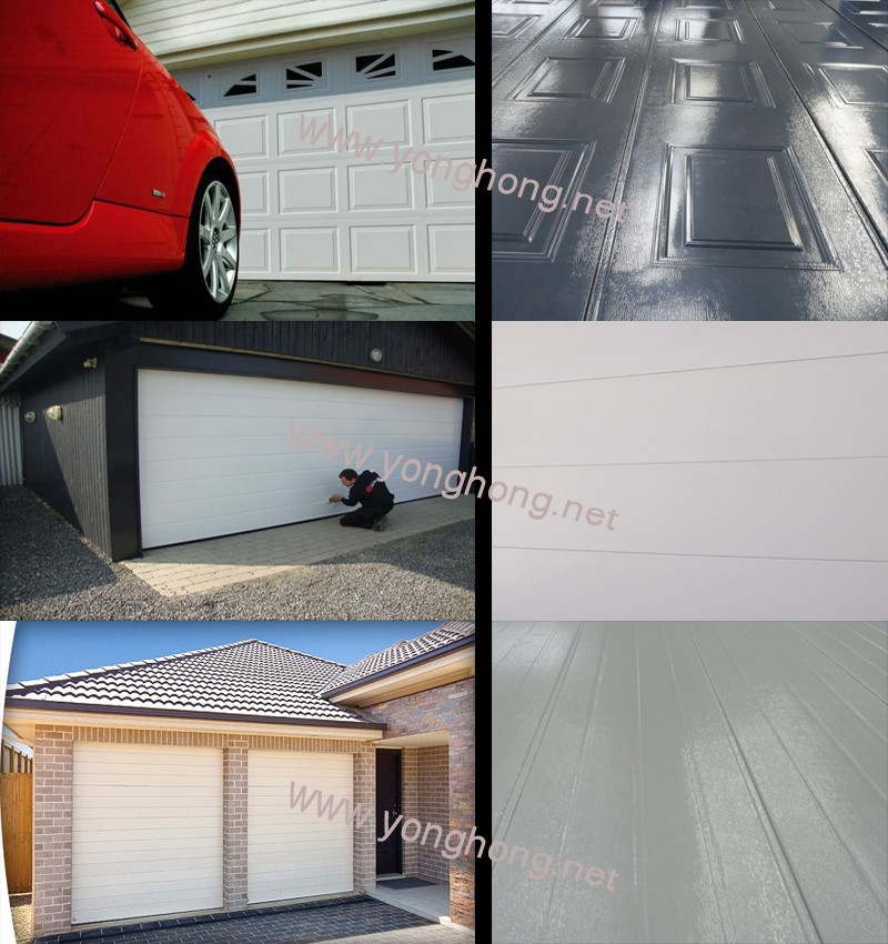 china residential sectional garage door