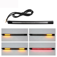 Bar Strip Brake Stop Turn Signal License Plate Light Integrated 3528 SMD 48 Motorcycle Tail Light with 12V