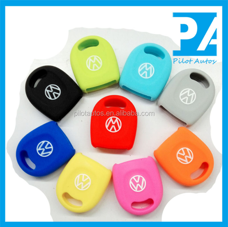 Factory wholesale Colorful High quality Silicone Car Key Cover Remote Case For VW Volkswagen Jetta Santana Bora Lavida