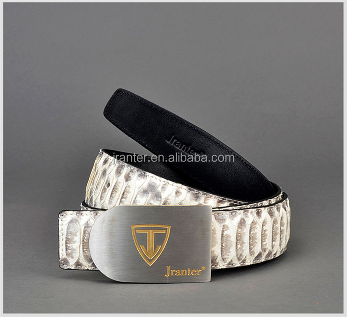Custom Luxury Genuine Python Snake Skin Leather Belt Designer 304 Stainless Steel Buckles Belts