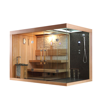 Merveilleux Sauna 6 Personnes Maison De Sauna Avec Salle De Douche, Extérieur 6  Personnes Sauna