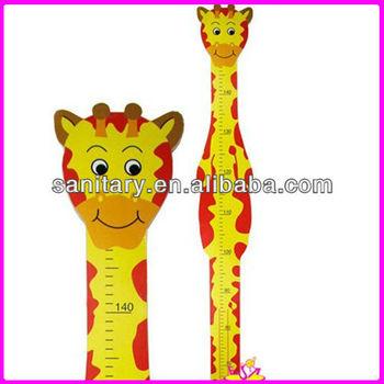 Giraffe Height Chart Wooden Growth Chart Ruler For Kids W09c002