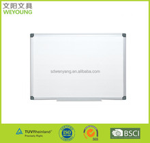 Invisible wall mount magnetic dry eraser surface whiteboard in aluminum frame