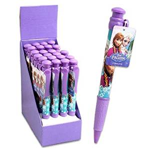 DISNEY FROZEN JUMBO PEN DISPLAY SOFT GRIP 11 INCH PEN, Case of 24