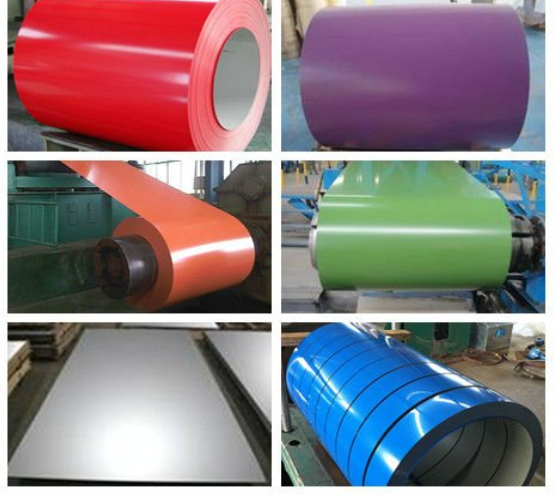 PPGI Coils, Color Coated Steel Coil, Prepainted Galvanized Steel Coil Z275/Metal Roofing Sheets Building Materials in China
