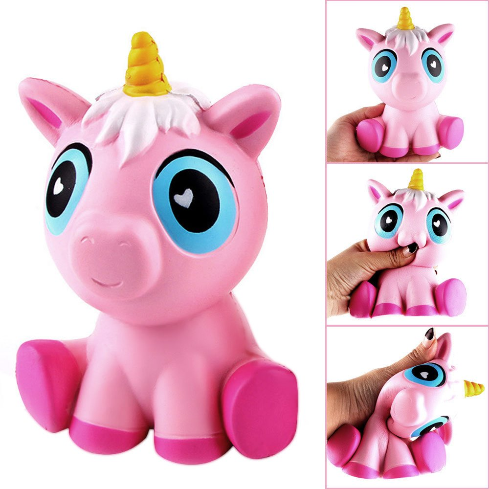 Unicorn Squishies Toys Aisikasi Jumbo Slow Rising Soft Squishy Charms Toy for Stress Relief and Time Killing Scented Soft Kawaii Squishy Animal Toy