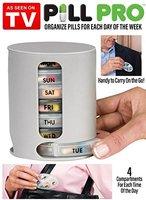 AS SEEN ON TV Compact Organizer Medication Pill Vitamin Storage box Pill Pro