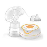 OEM brand best quality massage electric breast milk pump with LCD and massage