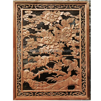 Antiques building relief carvings wood panels chinesefactory