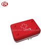 Custom red color contains zip mesh bags portable hearing aid case