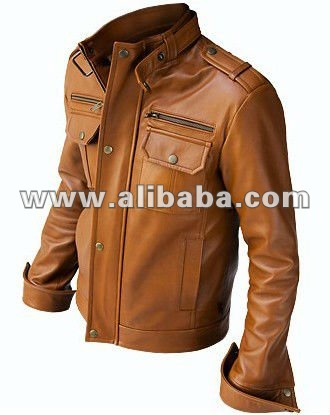 New Men Brown Leather Jacket