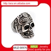 Top Sale men ring men'stitanium ring skull men's ring