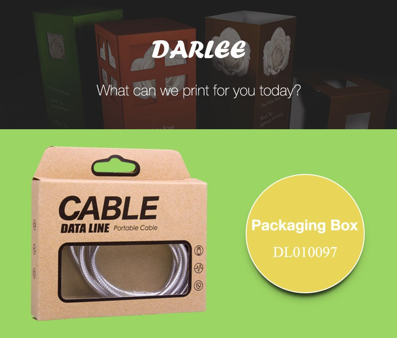 Custom logo printed recyclable brown kraft paper USB cable paper packing boxes
