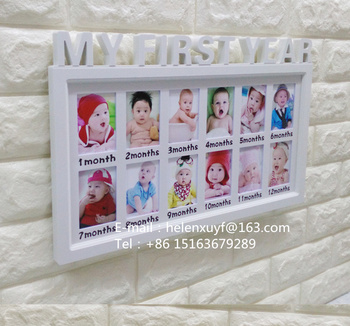 Baby 12 Months Collage Photo Frame With