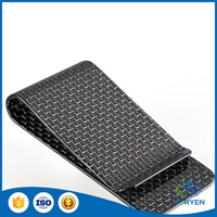 Low Price Higher quality Gloss finish Carbon fiber money clip for home use